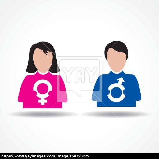 Male Female Icon Having Their Symbol Stock Vector Vector