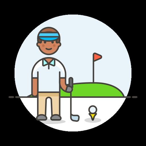 Golfer Male Icon Streamline Ux Free Iconset Streamline Icons
