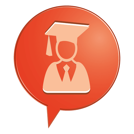 Male Graduate Bubble Icon