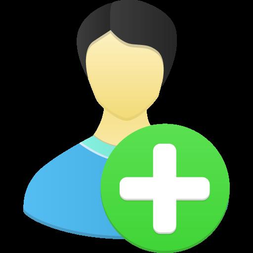 Male User Add Icon Flatastic Iconset Custom Icon Design