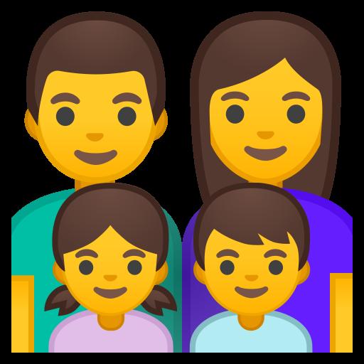 Family Man Woman Girl Boy Icon Noto Emoji People Family Love