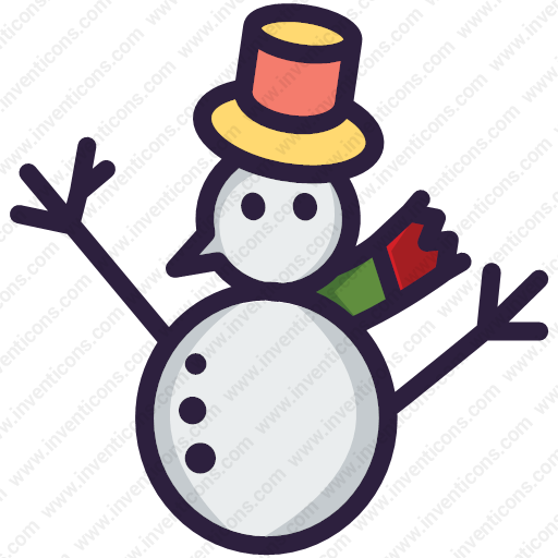 Download Snow Man,christmas,snow Man Icon Inventicons