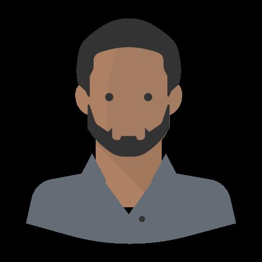 Avatar Black Man Beard Glasses, Black Man Icon Png And Vector