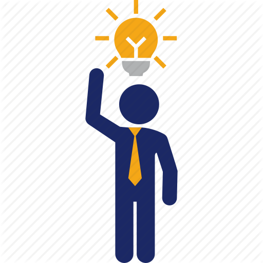 Bulb, Business, Clever, Good, Idea, Man Icon