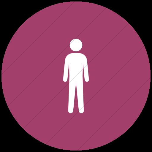 Flat Circle White On Pink Ocha Humanitarians People Man