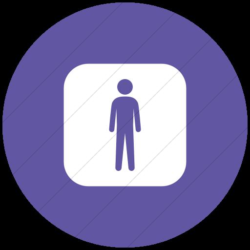 Flat Circle White On Purple Ocha Humanitarians Inverse