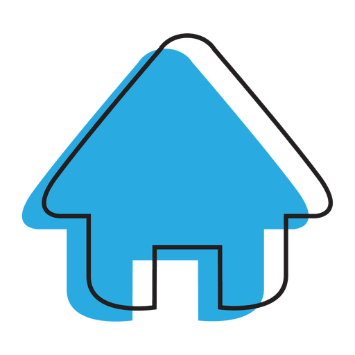 Home Blue House Icon