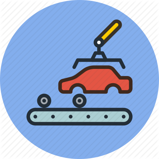 Download Vehicle Production Icon Clipart Car Factory Manufacturing