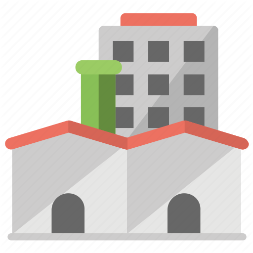 Factory, Industrial Area, Industry, Manufacturing Plant, Refinery Icon
