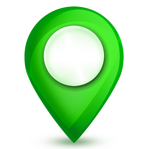 Map Icon Green Healthy Life