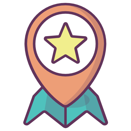 Location, Fav, Favourite, Star, Point, Pointer, Map Icon Free