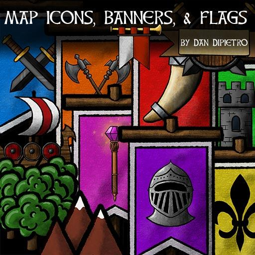 Map Icons, Banners, Flags Marketplace Digital Goods