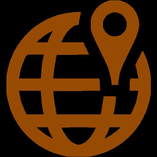 Brown Worldwide Location Icon