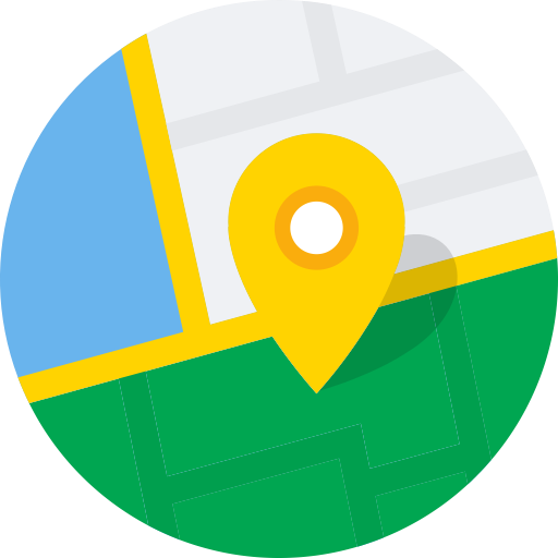 Rounded, Maps, Location Icon Free Of Round Varieties