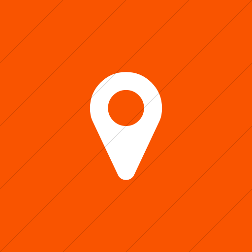Flat Square White On Orange Bootstrap Font Awesome Map