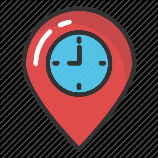 Clock Map Pointer, Clock Placeholder, Clock Tower, Map Marker