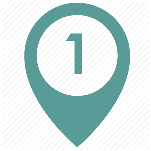 Map, Number, Object, One, Place, Point, Pointer Icon