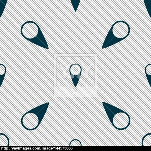 Map Pointer Icon Gps Location Symbol Seamless Pattern