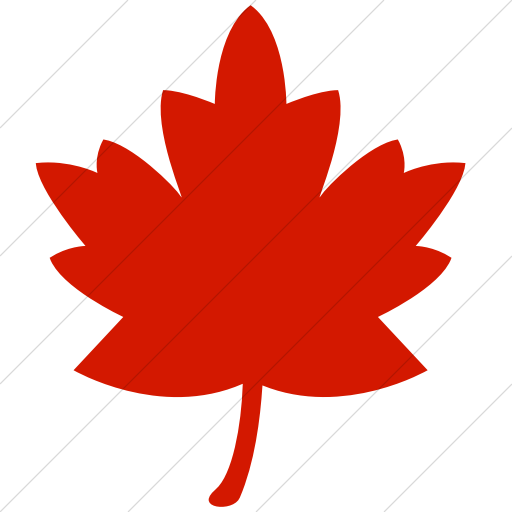 Simple Red Classica Maple Leaf Icon