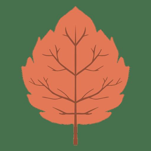 Red Autumn Leaf Icon
