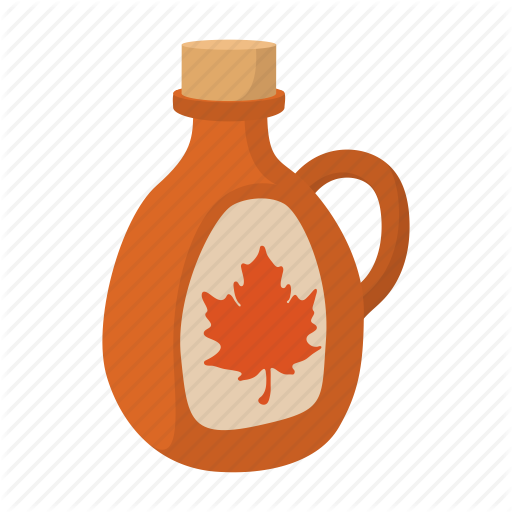 Bottle, Cartoon, Food, Maple, Pure, Sweet, Syrup Icon