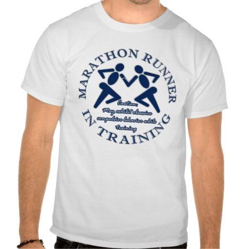 Running Sport Funny Marathon Runner In Training T Shirt Running