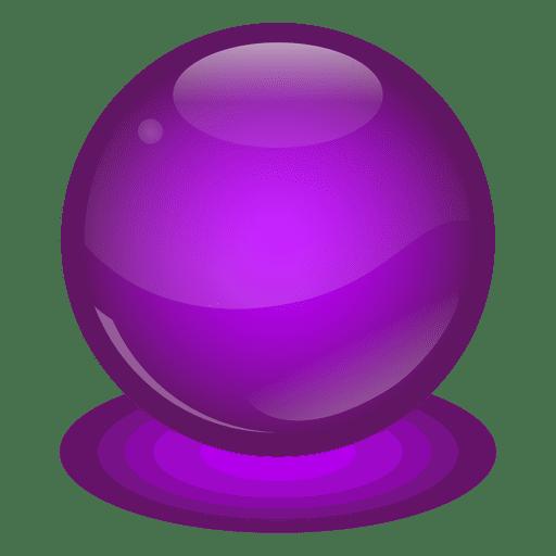 Purple Marble Ball