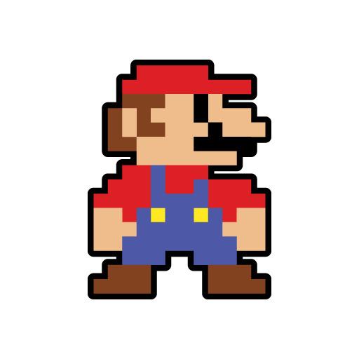 Jdm Mario Bros Pixel For Japanese Car Vinyl Decal Sticker Super Ebay