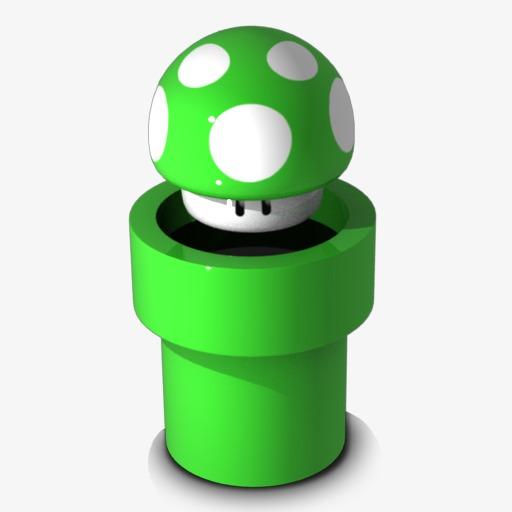 Super Mario Icon, Super Mary, Mushroom, Green Mushroom Png Image
