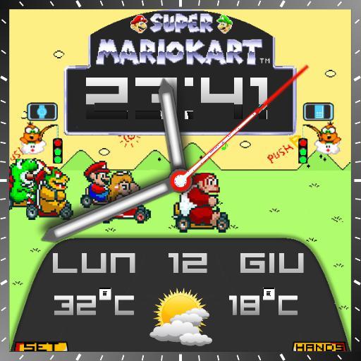 Mario Kart Vintage Square For Smartwatch