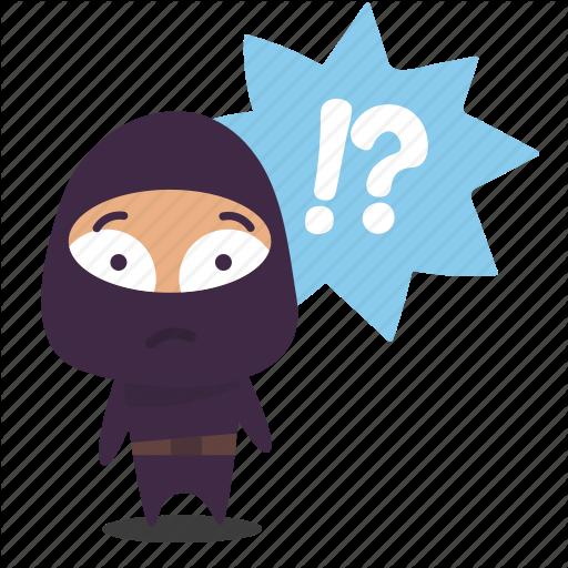 Confused, Ninja, Question Mark Icon