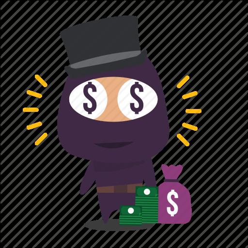 Greed, Material, Money, Ninja Icon