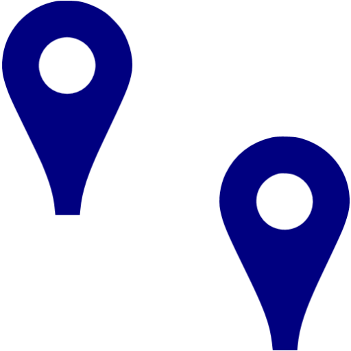 Navy Blue Point Objects Icon