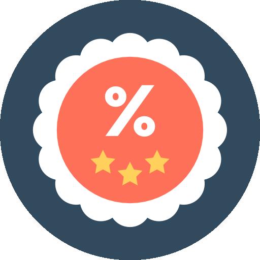 Percentage Icon Shopping Vectors Market