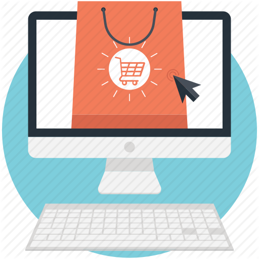 Buy Online, Ecommerce, Estore, Online Marketplace, Online Shop Icon