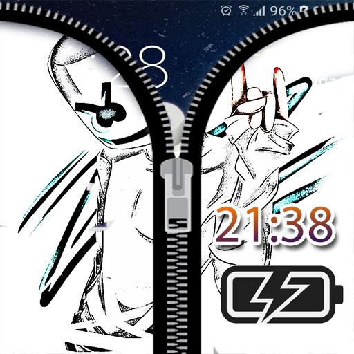 Zipper Lock Screen Marshmello Latest Version Apk