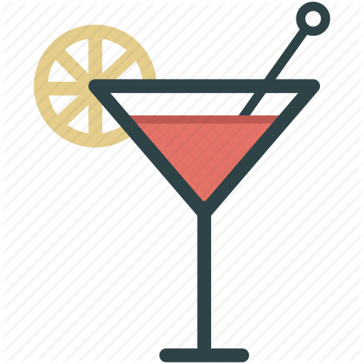 Alcohol, Cocktail, Glass, Pink Drink Icon