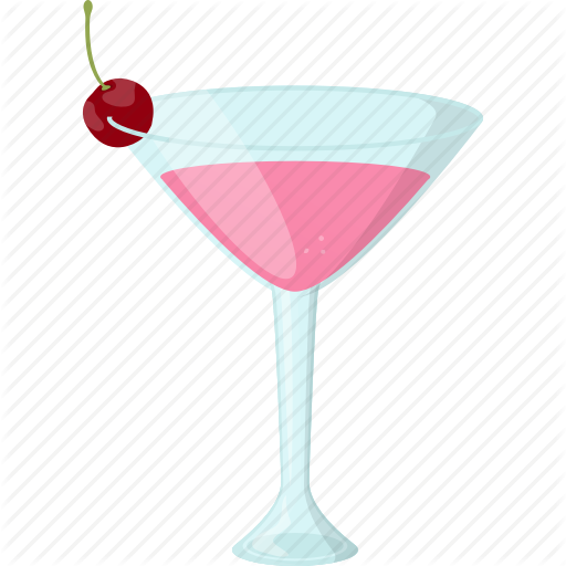 Cherry Smoothie, Fresh Juice, Martini Glass, Natural Drink, Summer