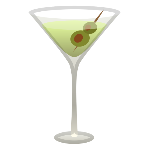 Cocktail Glass Icon Noto Emoji Food Drink Iconset Google