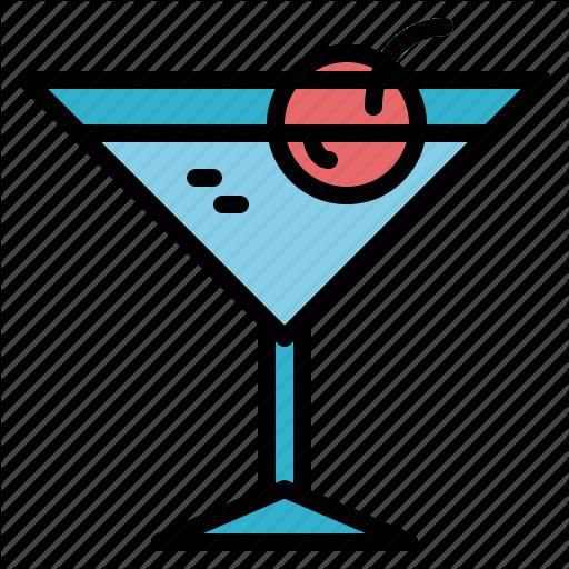 Alcohol, Alcoholic, Drink, Martini Icon