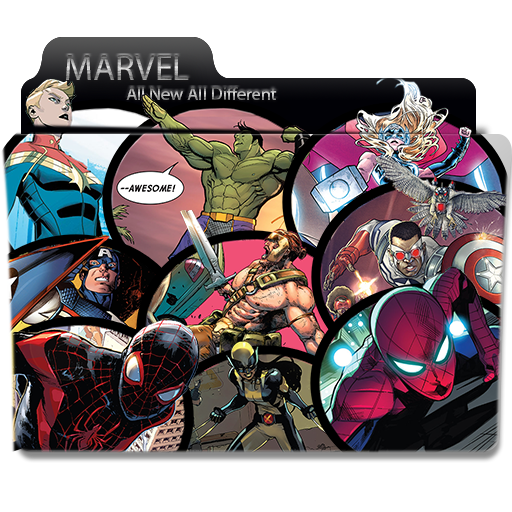 All New All Different Marvel Folder Icon