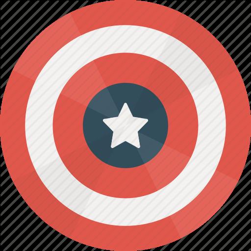 Caps, Captain, Hero, Marvel, Shield Icon