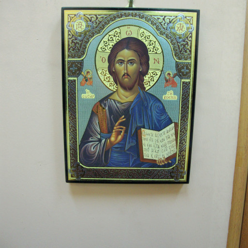 Christian Icon On Wood Of Jesus With Bible Emporioalpha On Artfire