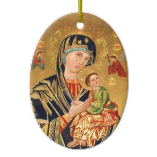 Circle Byzantine Ornament Icon Mary