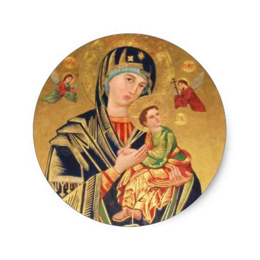 Custom Baby Jesus And Mary Sticker Templates