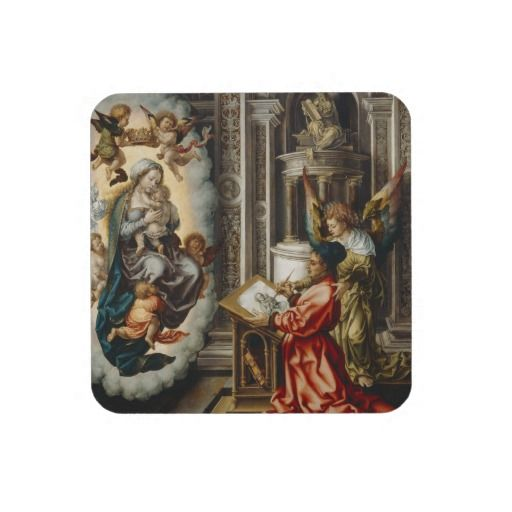 Saints With Mary And Baby Jesus Beverage Coaster Christian