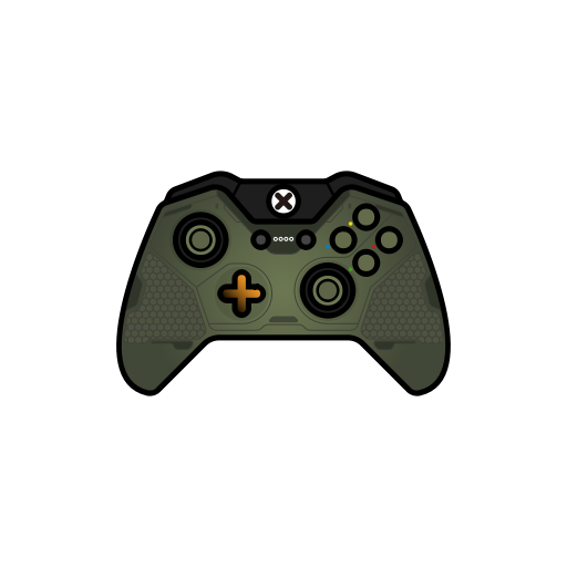 Controller, Gamer, Green, Halo, Master Chief, Xbox One Icon