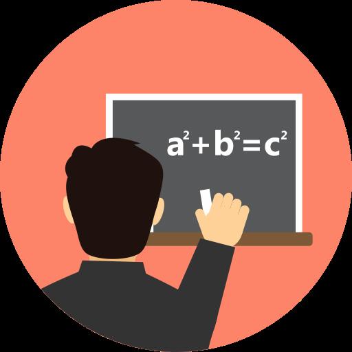 Math Tutor, Tutor, Tutor Explaining, Tutor Explains Math Problem Icon