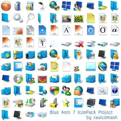 Amazing World 'blue Aero Iconpackager Theme Icons