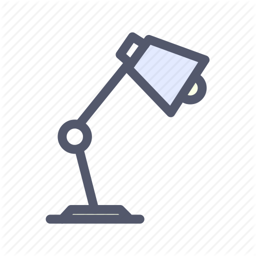 Bulb, Desk, L Light, Table, Table Lamp Icon